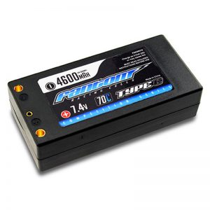 70C-140C COMPETITION SERIES LiPo – 4600mAh, 7.4v, 2-Cell, SHORTY