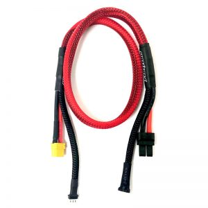2-CELL, 24 Inch (61 Cm) Battery Charging Extension Harness – XT60 To Traxxas Connector W/ Balance Taps