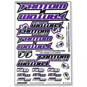 Vinyl Die-Cut Team Sticker Sheet – Purple
