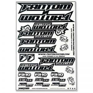 Vinyl Die-Cut Team Sticker Sheet – Black/White