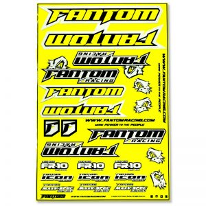 Vinyl Die-Cut Team Sticker Sheet – Flo Yellow