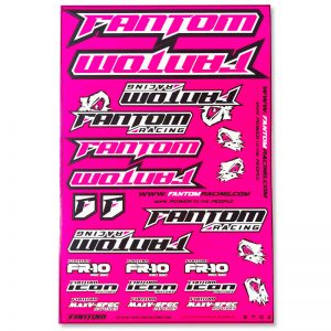 Vinyl Die-Cut Team Sticker Sheet – Flo Pink