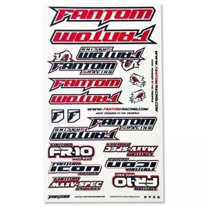 U-Cut Team Sticker Sheet – Red