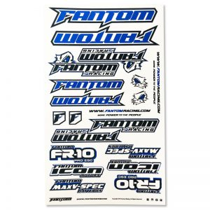 U-Cut Team Sticker Sheet – Blue