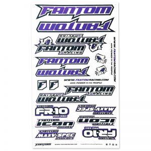 U-Cut Team Sticker Sheet – Purple