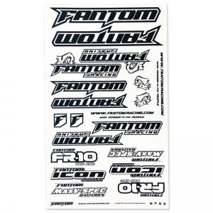 U-Cut Team Sticker Sheet – Black/White