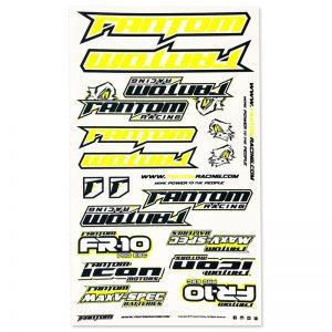 U-Cut Team Sticker Sheet – Flo Yellow