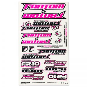 U-Cut Team Sticker Sheet – Flo Pink