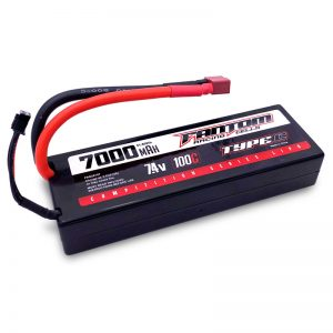 100C COMPETITION SERIES LiPo – 7000mAh, 7.4v, 2-Cell, Deans Connector – NEW IMPROVED CASE