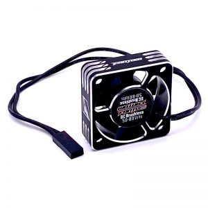 30mm Aluminum Case Motor Fan – Black/Silver