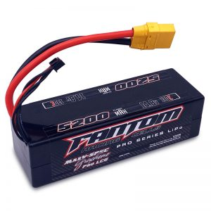 5200mAh, 130C, 14.8v, 4-Cell (4S), LOW PROFILE, Pro Series Silicon Graphene LiPo, XT90 Connector – NEW IMPROVED CASE