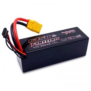 6750mAh, 130C, 14.8v, 4-Cell (4S), Pro Series Silicon Graphene LiPo, XT90 Connector – NEW IMPROVED CASE